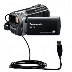 Classic Straight USB Cable for the Panasonic SDR-T50 Video Camera with Power Hot Sync and Charge capabilities - uses Gomadic TipExchange Technology