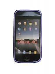 New Spiral design Silicone Case for Apple iPhone 4G, 4Gs (Purple).