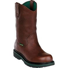 "John Deere Boots - 11"" Safety Toe Wellington Internal Met Guard (Men's) - Dark Brown"