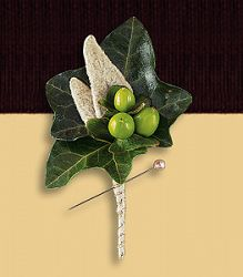 Mixed Foliage Boutonniere.