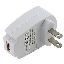 Universal USB Travel Charger Adapter, White