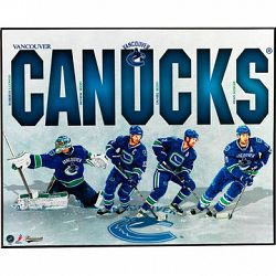 NHL Canucks Team Plaque - 16 x 20""