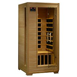 1-2-Person Hemlock Infrared Sauna with 4 Carbon Heaters