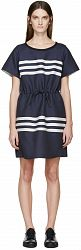 Jil Sander Navy Navy Striped Dress