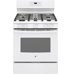 White 30 Inch. Free Standing Self Cleaning Gas Range