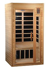 6016 1-2-Person Far Infrared Carbon Sauna with Chromotherapy, MP3 Stereo and 2 Speakers