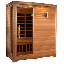 3-Person Far Infrared Carbon Sauna with Chromotherapy, MP3 Stereo and 2 Speakers