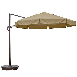 Freeport 11-ft Octagonal Cantilever w/ Valance Patio Umbrella in Beige Sunbrella Acrylic