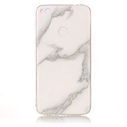 Huawei P8 Lite 2017 Case, Glossy Marble Pattern Slim Hard Soft Silicone Back Case Cover Fit for Huawei P8 Lite 2017 (jade white)