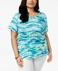 Alfred Dunner Scottsdale Plus Size Embellished-Print Top