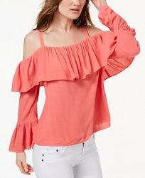 I. n. c. Petite Off-The-Shoulder Ruffle-Cuff Top, Create for Macy's
