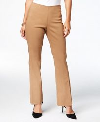 I. n. c. Slit-Front Pull-On Bootcut Pants, Created for Macy's