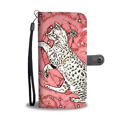 Ocicat in heart Print On Pink Wallet Case-Free Shipping - Samsung Galaxy S9