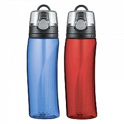 Thermos Tritan 710ml Water Bottles - Red/Blue - 2 pack