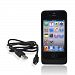 Apple Iphone 4 Backup Battery Rubberized Case W/ Usb Data Cable(1700 Mah) - Black