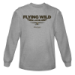Flying Wild Alaska Logo L/S T-Shirt - Heather Grey