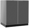 Outdoor Kitchen 2 Door Cabinet Aluminum Slate